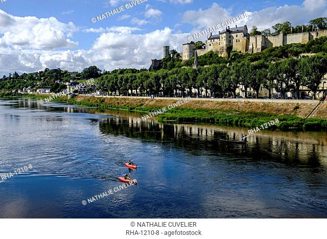 Castle of Chinon, UNESCO World Heritage Site, along the Vienne River, Chinon, Indre et Loire, Centre, France, Europe