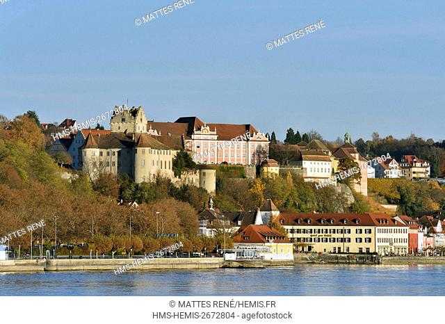 Germany, Baden Wurttemberg, Lake Constance (Bodensee), Meersburg, Altes and Neues Schloss (Old and new castle), Burg Meersburg
