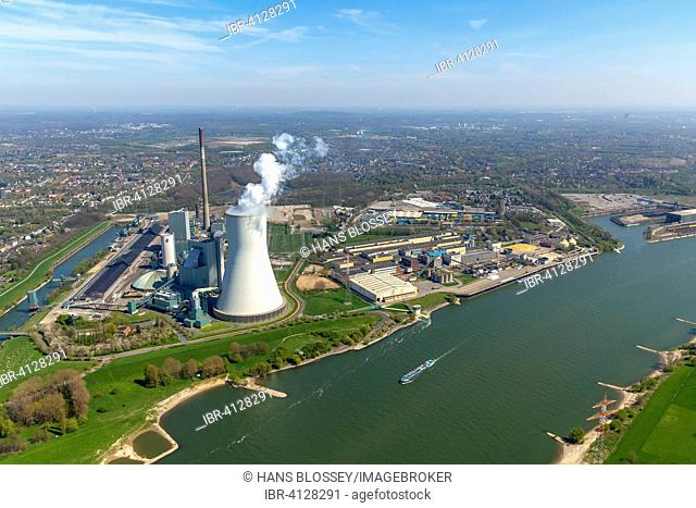 STEAG coal power plant Walsum, Rheinberg, Ruhr district, North Rhine-Westphalia, Germany