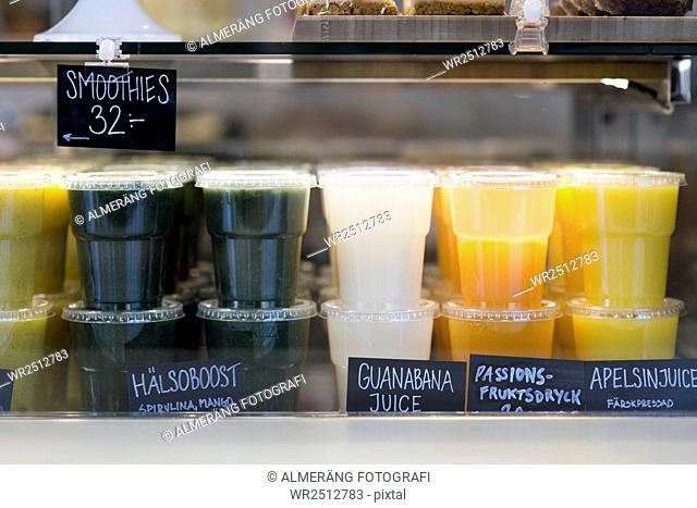 Fresh smoothies and juices