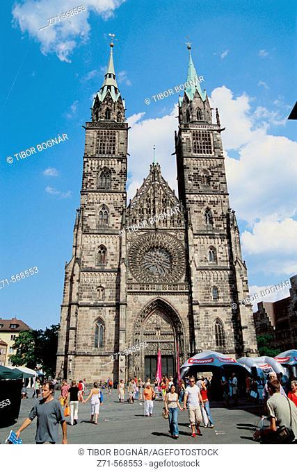 Saint Lorenz church, Nuremberg. Bavaria, Germany