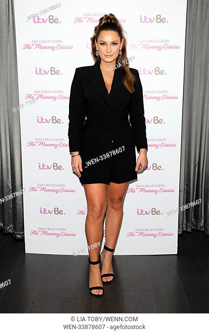 Photocall for ITVBe reality show 'The Mummy Diaries' Featuring: Sam Faiers Where: London, United Kingdom When: 06 Mar 2018 Credit: Lia Toby/WENN.com