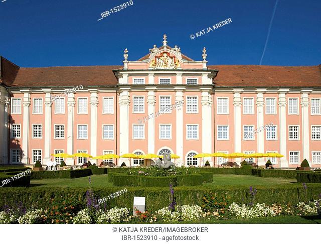 Neues Schloss castle in Meersburg, Lake Constance, Baden-Wuerttemberg, Germany, Europe