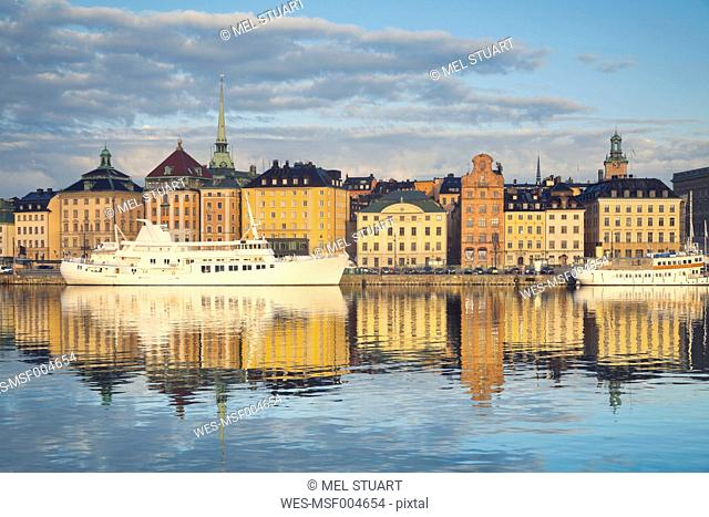 Sweden, Stockholm, view to Gamla Stan, old town