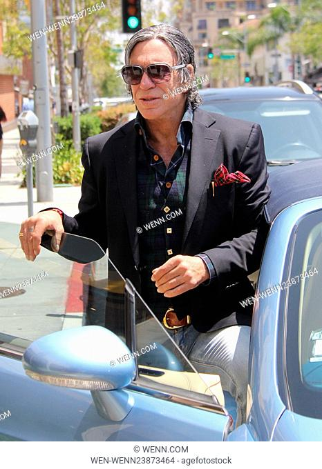 Mickey Rourke gets lunch at Caffe Roma in Beverly Hills Featuring: Mickey Rourke Where: Beverly Hills, California, United States When: 17 May 2016 Credit: WENN