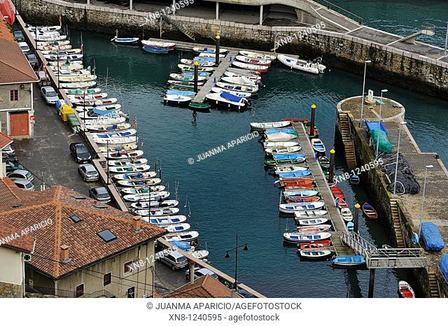 Elanchove marina on the coast of Biscay, Basque Country, Spain