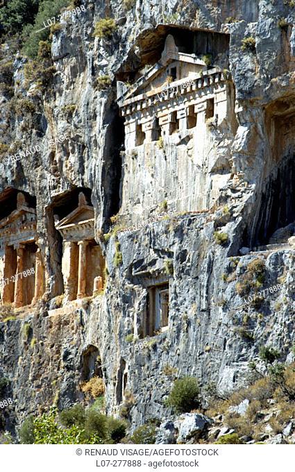 Lycian rock tombs of Dalyan. Turkey