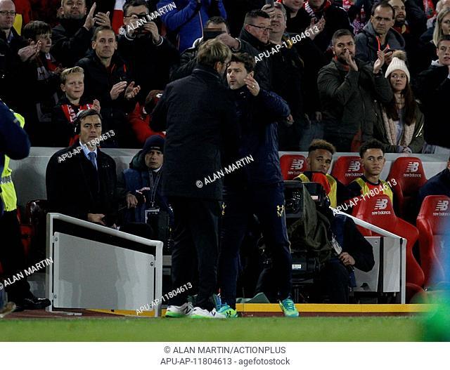 2016 EFL Cup Football Liverpool v Tottenham Hotspur Oct 25th. 25.10.2016. Anfield, Liverpool, England. EFL Cup. Liverpool versus Tottenham Hotspur