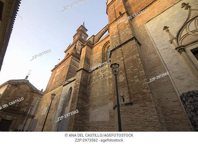 Sta Maria church Old town in Carmona, Seville province, Spain