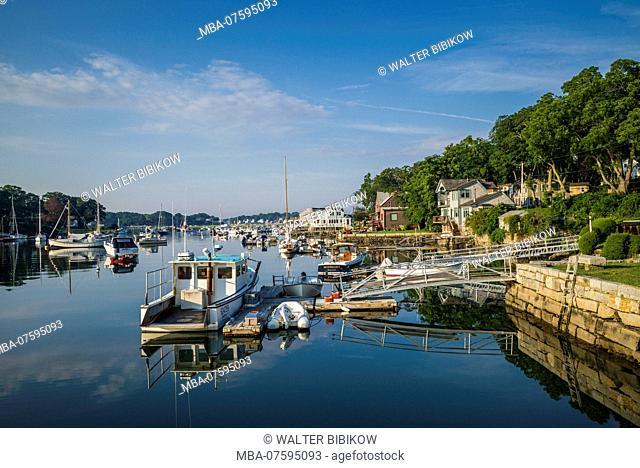 USA, New England, Cape Ann, Massachusetts, Annisquam, boats Lobster Cove