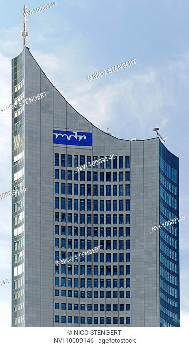 City-Hochhaus skyscraper, Panorama Tower, MDR, Leipzig, Saxony, Germany, Europe