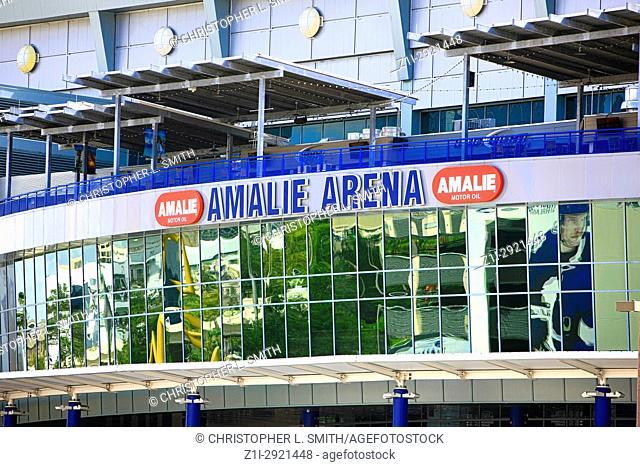 Amalie Arena sports stadium in downtown Tampa FL, USA