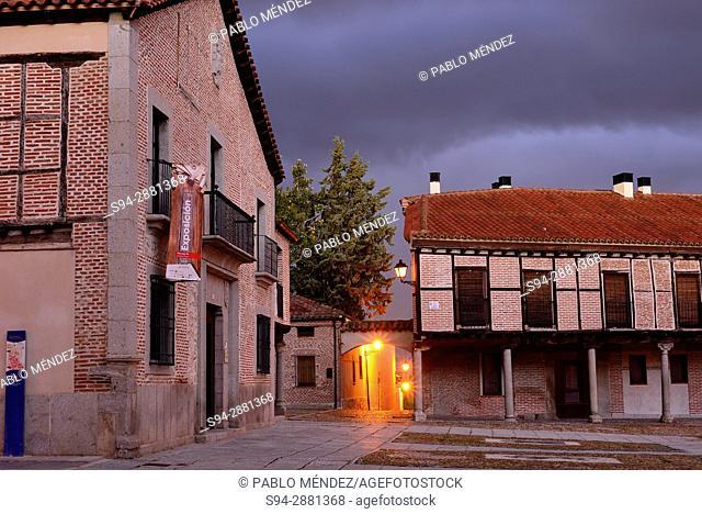 Plaza de la Villa or Main square of Arevalo, Avila, Spain
