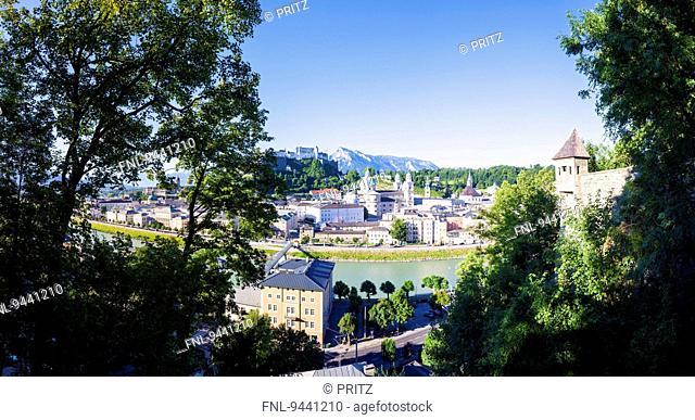 Cityscape of Salzburg, Austria