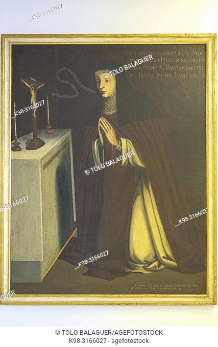 Sor Clara Andreu, obra anonimas, oleo sobre tela, siglo XIX, museo parroquial, iglesia de Santa Maria la Major, Inca, Mallorca, balearic islands, Spain