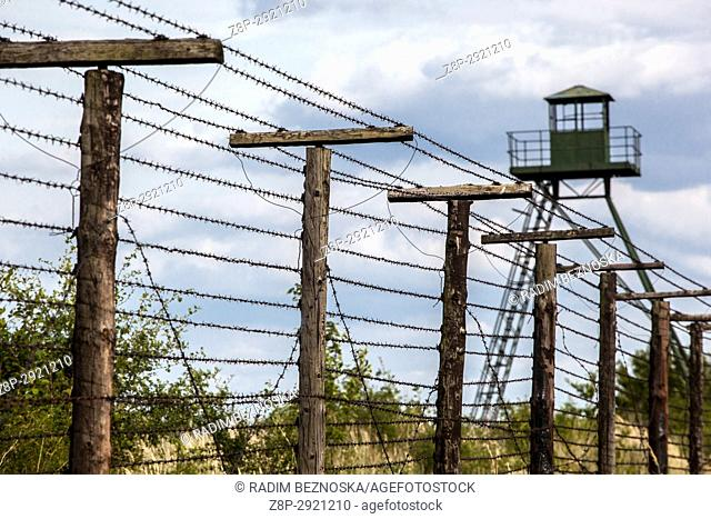 Cizov, Southern Moravia, near Znojmo, you can see the remains of the former Iron Curtain, Fence and Barbed wire