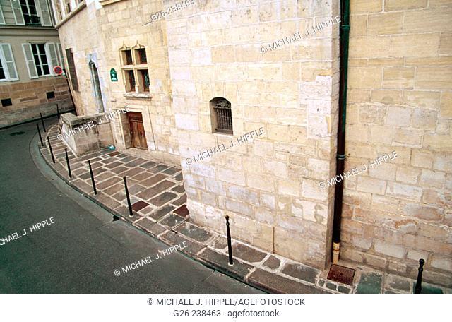 Street of the Latin Quarter neighborhood. Paris. France
