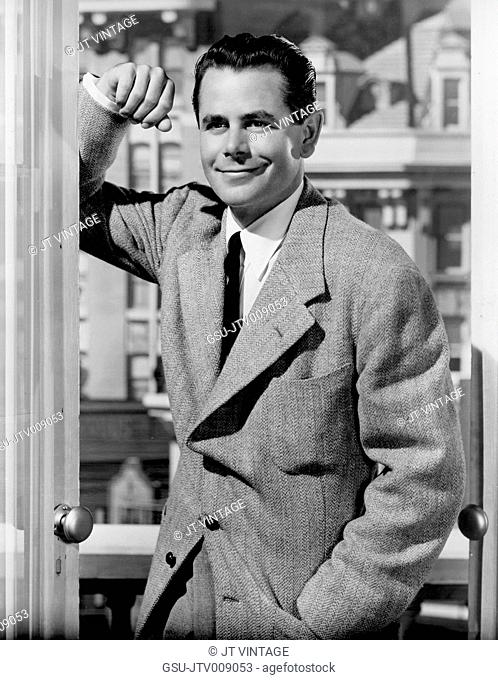 Glenn Ford, on-set of the Film, The Doctor and the Girl, MGM, 1949