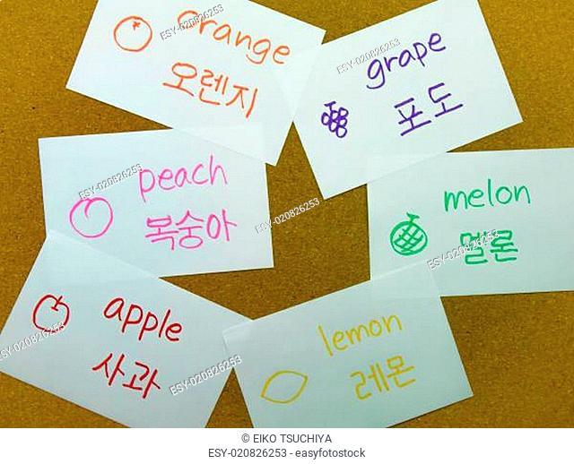 Language Flash Cards Korean