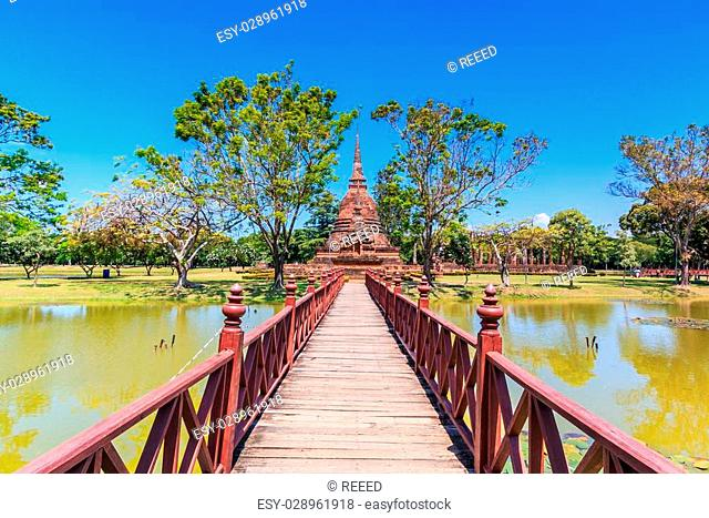 Sukhothai historical park, the old town of Thailand , They are p