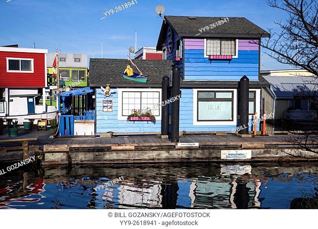 Floating Houses at Fisherman's Wharf - Victoria, Vancouver Island, British Columbia, Canada