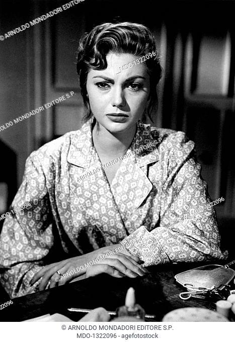 Sylva Koscina in 'Guendalina'. Croatian-born Italian actress Sylva Koscina acting in the film 'Guendalina'. 1957