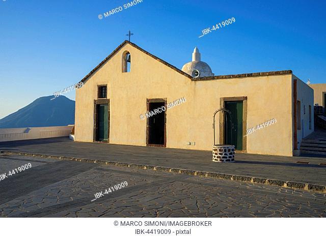 Old church of Quattropani, Chiesa Vecchia di Quattropani, Lipari Island, Aeolian Islands, UNESCO World Heritage Site, Sicily, Italy