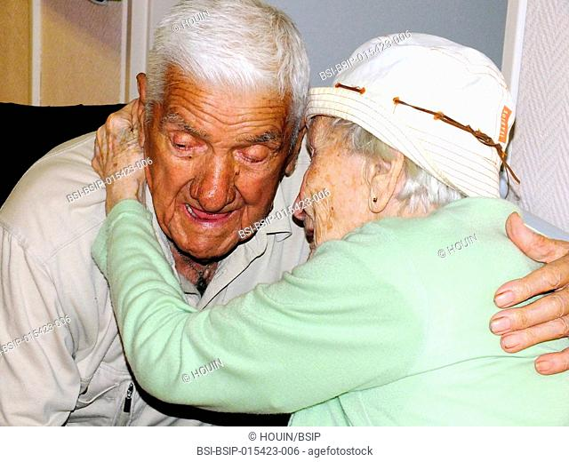 Couple in retirement home