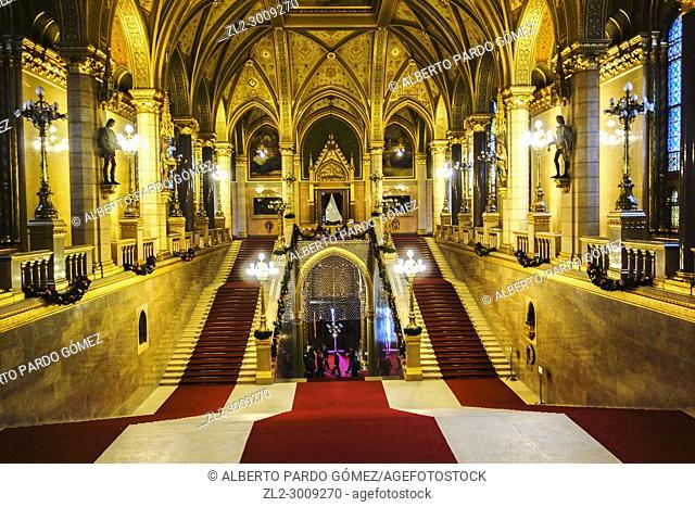 Hungary, Budapest, Parliament Building, Inside