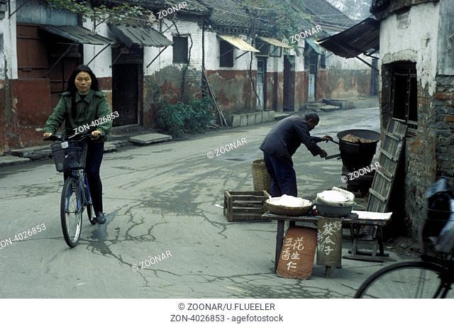 Das Zentrum der Stadt Kaifeng in der Provinz Henan in China in Ostasien