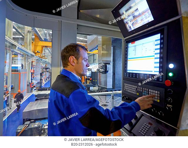 Control panel. Machining Center. CNC. Gantry mobile milling machine. Guided hydrostatic axis. Design, manufacture and installation of machine tools