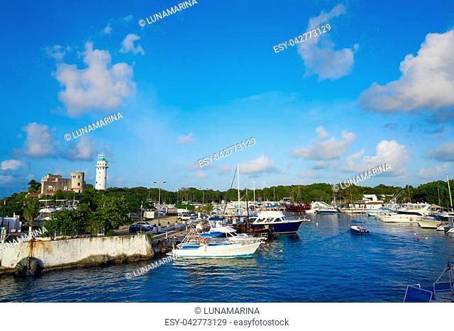 Cozumel island Puerto Abrigo marina in Mexico Mayan riviera
