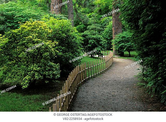 Path at Nishinomiya Japanese Garden, Manito Park, Spokane, Washington