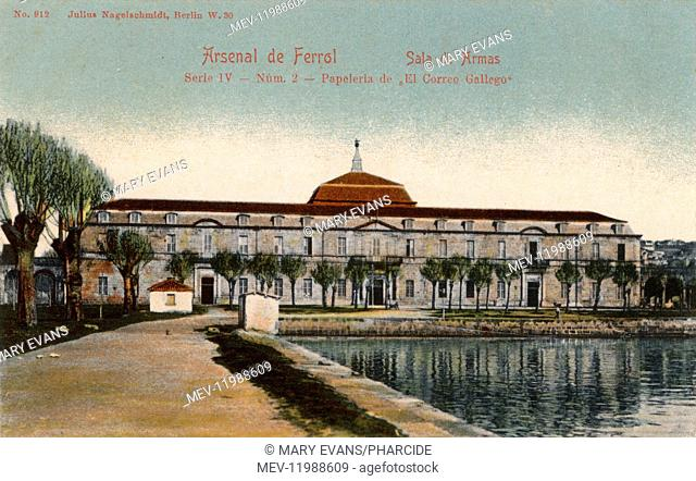 Sala de Armas, Arsenal building, Ferrol, Galicia, Spain