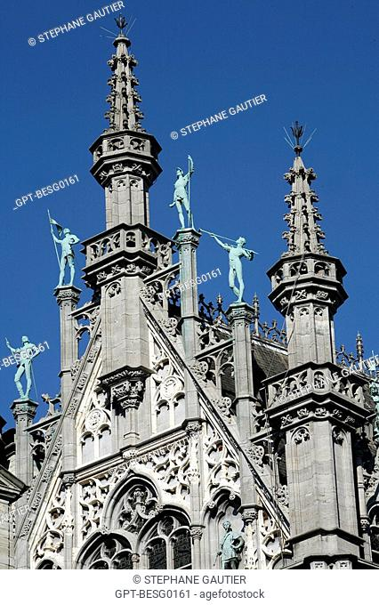 FACADE OF THE MUSEUM OF THE CITY OF BRUSSELS, GRAND PLACE MAIN SQUARE, BRUSSELS, BELGIUM