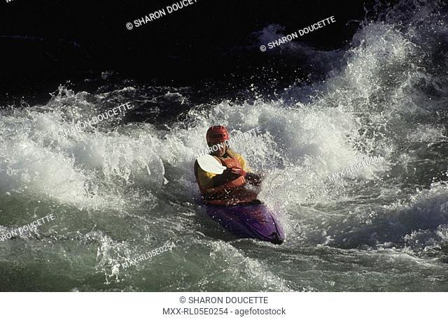 White Water Kayaker, Nahatlatch river, Boston Bar, BC