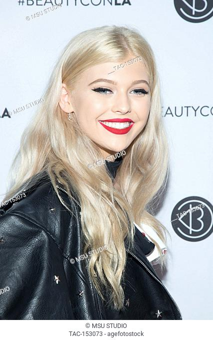 Loren Gray arrives at the 5th Annual Beautycon Festival Los Angeles at Los Angeles Convention Center on August 12, 2017 in Los Angeles, California