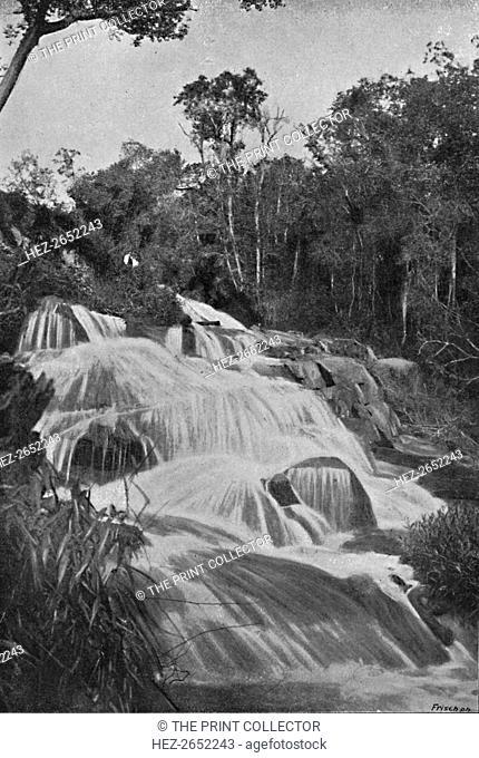 'Cachoeira no Rio Dourado (Lencoes)', 1895. From Sao Paulo by Gustavo Koenigswald. [S. Paulo, 1895]