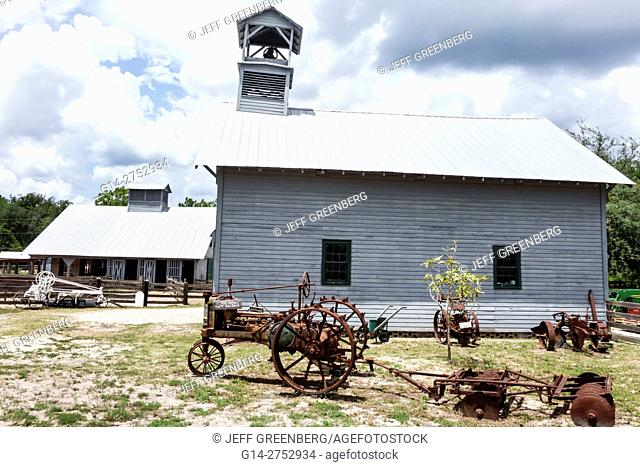 Florida, Palm Coast, Florida Agricultural Museum, living history museum, farm pioneer homestead, restored, Depression Era, tractor
