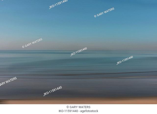 Abstract blurred motion seascape
