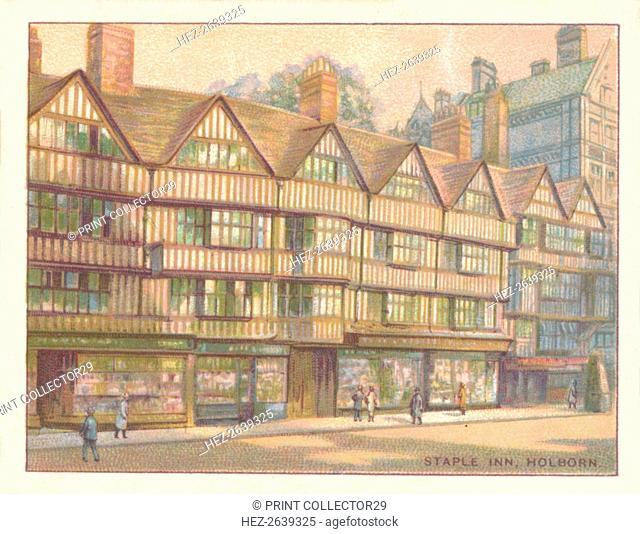 'Staple Inn, Holborn', 1929. Artist: Unknown