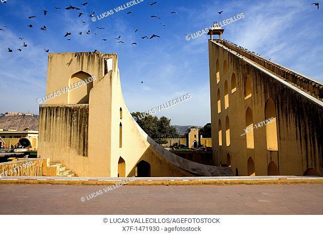 Vraht Samrat Yantra, in Jantar Mantar Observatory, Jaipur, Rajasthan, India