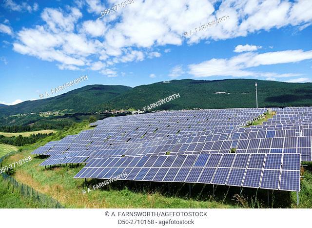 ASIAGO, ITALY, Veneto region. Solar panels
