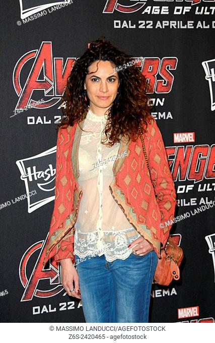enrica guidi; guidi; actress ; celebrities; 2015;rome; italy;event; red carpet ; avengers, age of ultron