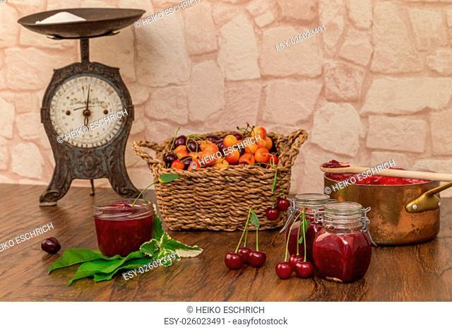 boil cherry jam