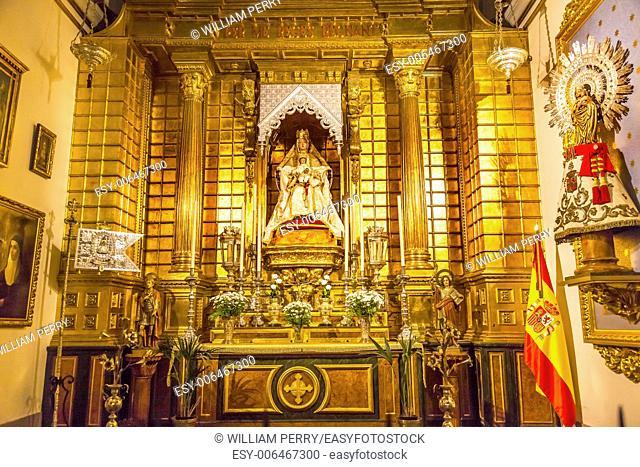 Basilica Altar Mary Jesus Statue Santa Iglesia Collegiata de San Isidro Madrid Spain. Named after Patron Saint of Madrid, Saint Isidore