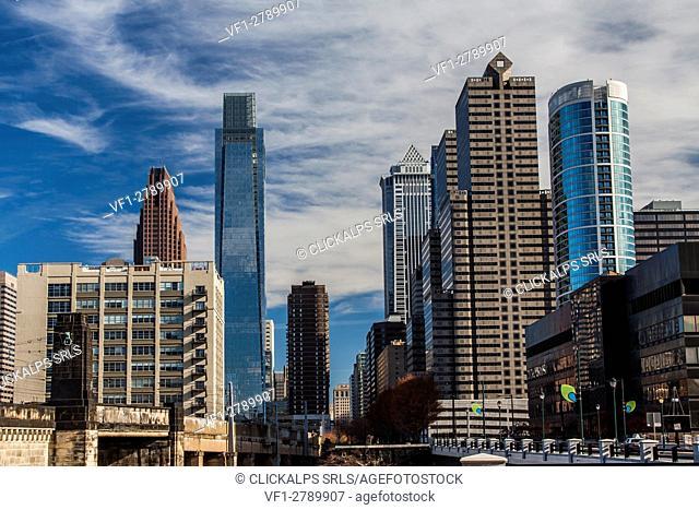 skyscrapers in Philadelphia, USA