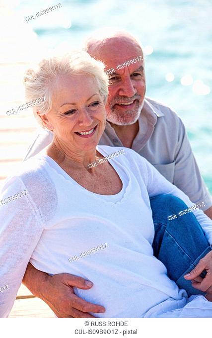 Couple enjoying seaside