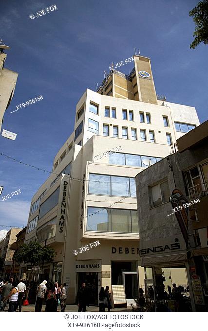 debenhams and shakolas tower building on ledra street in nicosia lefkosia republic of cyprus