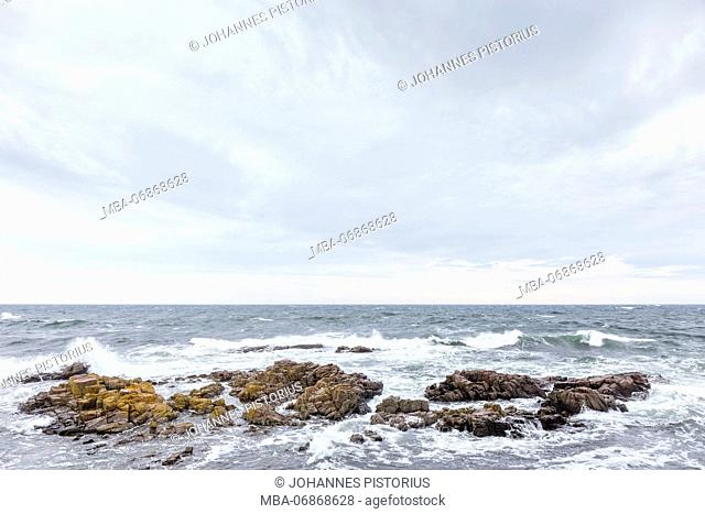 Stormy Baltic Sea in Allinge, Europe, Denmark, Bornholm